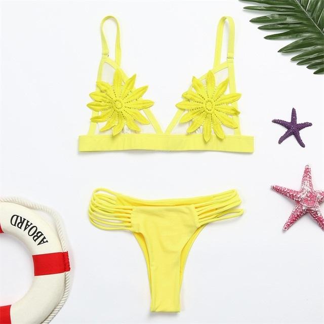 Swimming Suit Sexy Bikini Swimsuit kvinner Push-up polstret BH