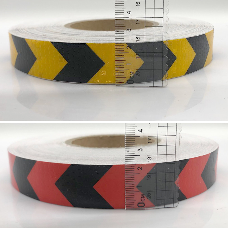Купить с кэшбэком 25mmx5m reflective warning tape with arrow printing for car