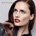 Hepidem nueva llanta serie oliver gafas de marco retro hechos a mano gafas de miopía gafas de marco de las lentes titanium de los hombres de los pueblos grau