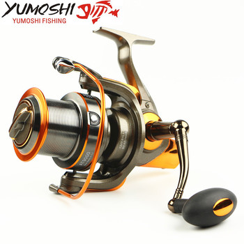 General Beautiful 8000 9000 Big Size Full Metal Line Cup Spinning Reel Fishing Reels Spool Trolling Long Shot Carp Wheel