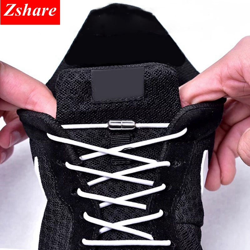 1Pair 25 Colors No Tie Shoe Laces Elastic Locking Round ShoeLaces Kids Adult Sneakers Shoelaces Lazy Quick Shoe Lace Shoestrings