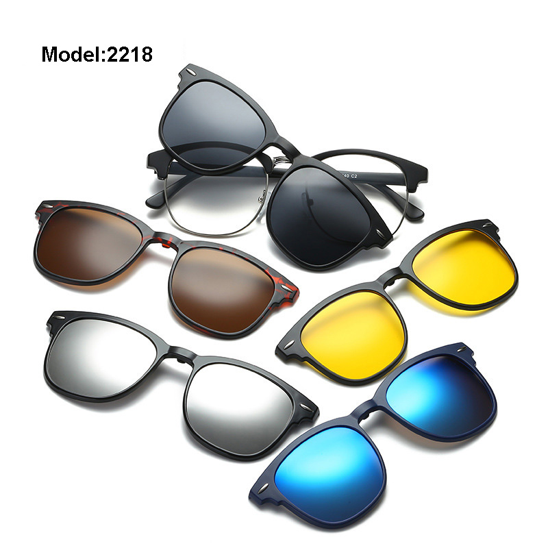 a033754aea Aliexpress.com   Buy 5+1 suit Multi function Clip On Sunglasses men  Magnetic clip Sunglasses women Magnet eyeglasses Clip Optical Myopia glasses  from ...