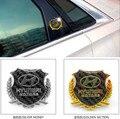 2pcs metal  Wheat car logo sticker rear decorate badge accessories Side emblem for i30 ix45 Sonata Santa Elantra Verna