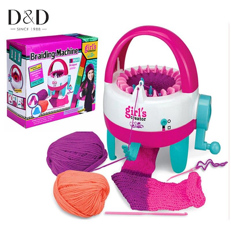 22 Nadeln Kunststoff Knitting Loom Maschine Handkurbel Weaver Kinder Pädagogisches Lernen Spielzeug Geschenk mit Nähwerkzeugen DIY Handwerk