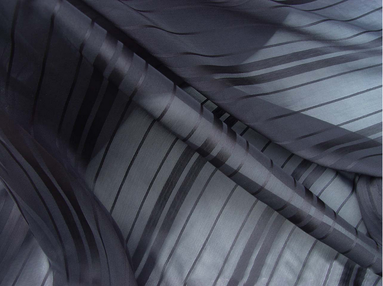 aliexpress : buy meter black chiffon material stripes jacauqrd