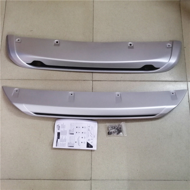 Free Shipping For Nissan Qashqai Dualis J11 2014 - 2017 ABS Car Exterior Front Rear Bumper Skid Protector Guard Plate Cover 2PCS 4