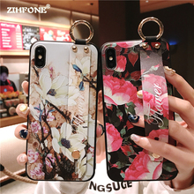 Fashion Flower Phone Case For Huawei Mate 20 Pro Silicone Soft Wristband Back Cover On Huawei Mate 10 P20 Lite P20 Pro Case Capa цена
