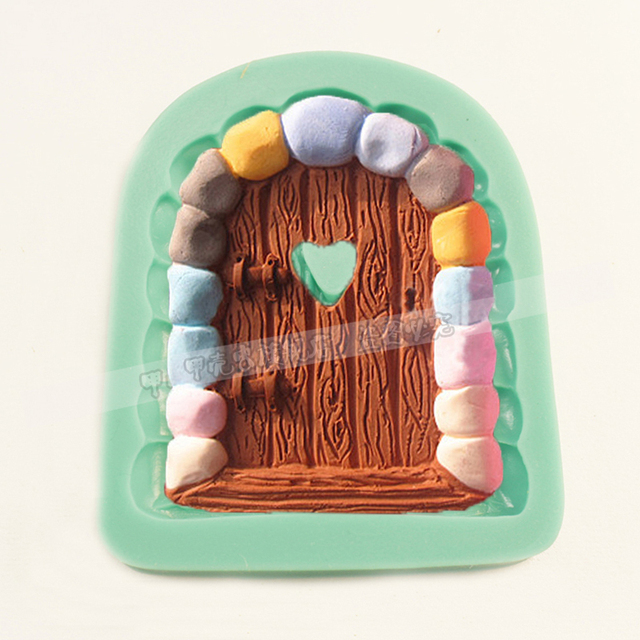1pcs fairy stone door silicone jello cake mold fondant sugar craft pastry baking tools bakeware chocolate : stone door group - pezcame.com