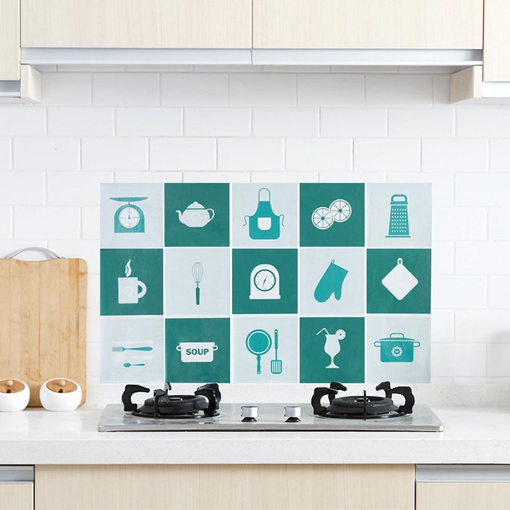Pattern Priented Kitchen Wall Stickers Waterproof Aluminum Foil ...