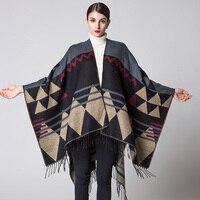 ZDFURS*New Brand design Bohemian Tassel Scarf Pashmina Women's Winter Warm Scarves Shawls Female Longer Thicken wild Cape Poncho