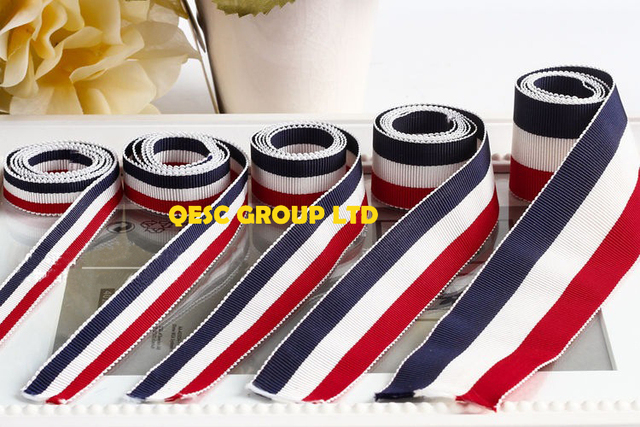 ce713625c6498 US $41.0  Red white dark blue Striped ribbon for headband hair accessory  fascinator clothes bag hat.-in Women's Hair Accessories from Apparel ...