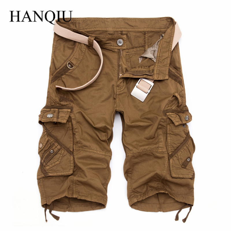 High Quality! Camo Military Shorts 2017 Summer Camouflage Cargo Shorts Men Cotton Loose Outwear Tactical Short Pants No Belt