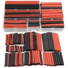 Новый 150 шт. 2:1 Полиолефиновый Термоусадочные трубки sleeving Обёрточная бумага Провода комплект кабель Z15 Прямая поставка
