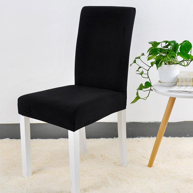 Jednolite kolory Elastyczna elastyczna elastan Krzesło na wesele - Tekstylia do domu - Zdjęcie 5