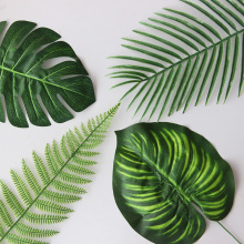 Pretty 1pc Artificial Tropical Palm Leaves Simulation Leaf For DIY tropical Hawaiian Theme Party Home Garden Wedding decoration