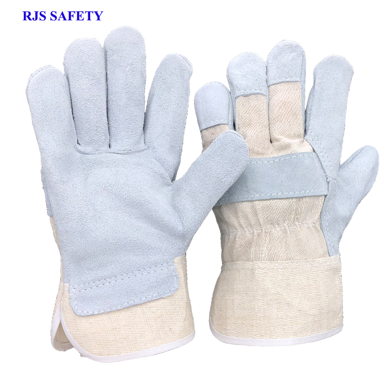 RJS 1PCS New Working Gloves Cowhide Leather Men Working Welding Gloves Safety Protective Sports MOTO Wear-resisting Gloves 7016 strong 0 35mmpb medical x ray protective gloves ray workplace use gloves lead rubber gloves