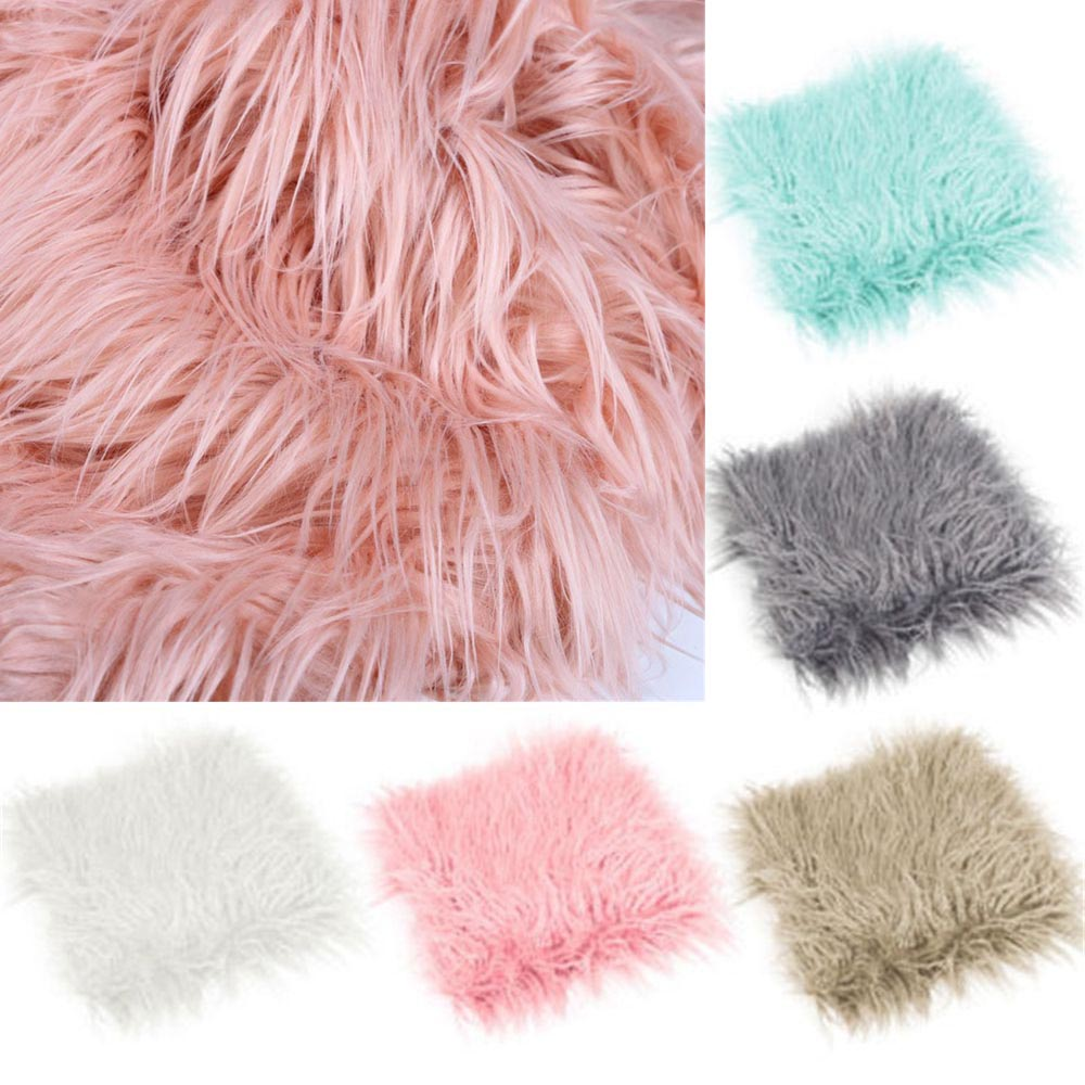 Soft Newborn Photographic Blanket Baby Photography Quilt Fur Mat Photo Props