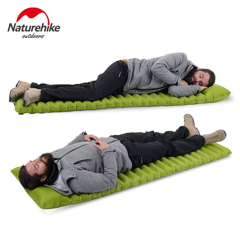 Naturehike Ultralight Moisture proof Sleeping Pad Outdoor Inflatable Mattress Air Bed With Pillow For Camping Beach
