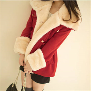 Image 2 - Fast Shipping  Winter Warm Coats Women Wool Slim Double Breasted Wool Coat Winter Jacket Women Fur Women S Coat Jackets