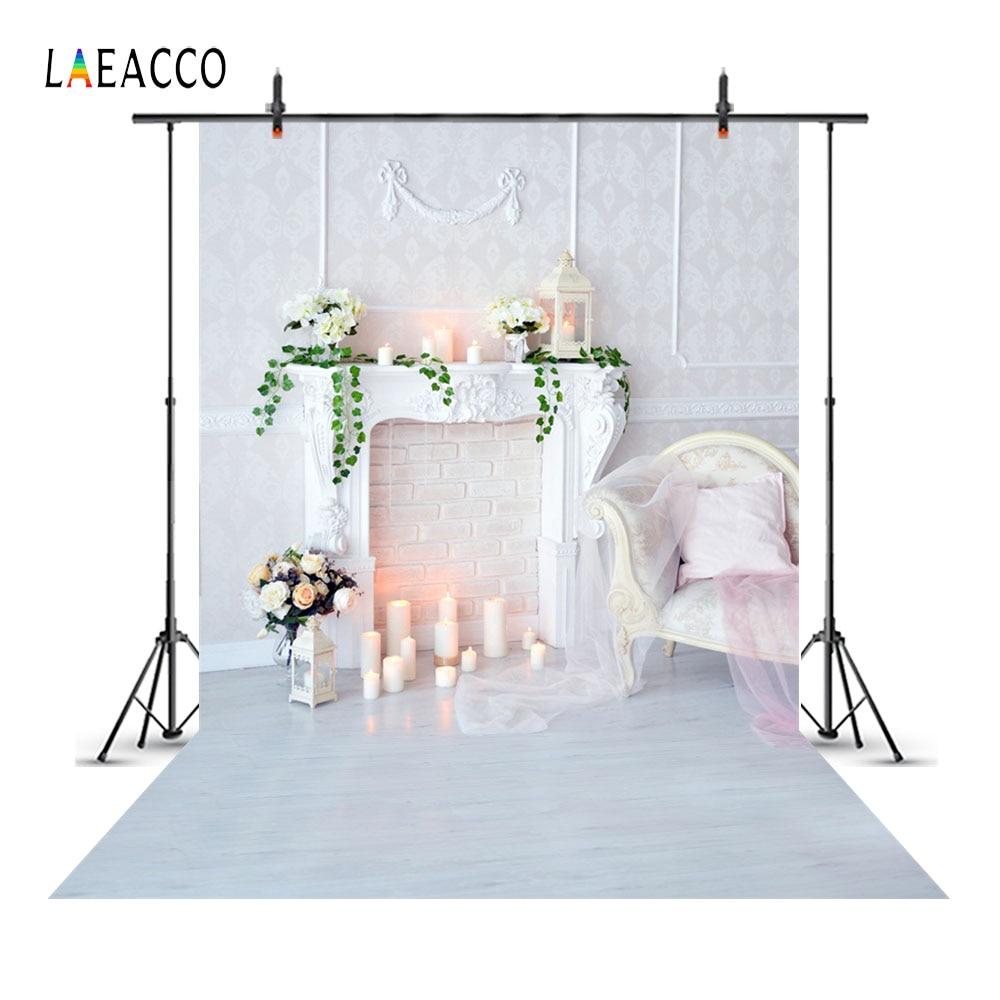 Laeacco chimenea interior velas silla de la cortina del bebé - Cámara y foto