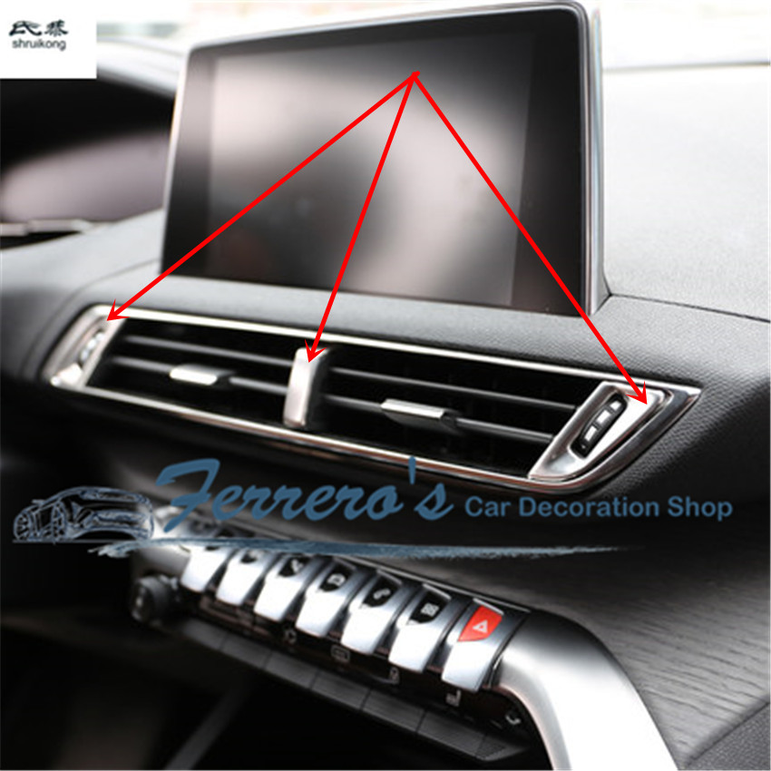 Central Air Conditioner Ratings And Reviews >> for 2017 Peugeot 5008 3PCS/LOT car sticker accessories ...