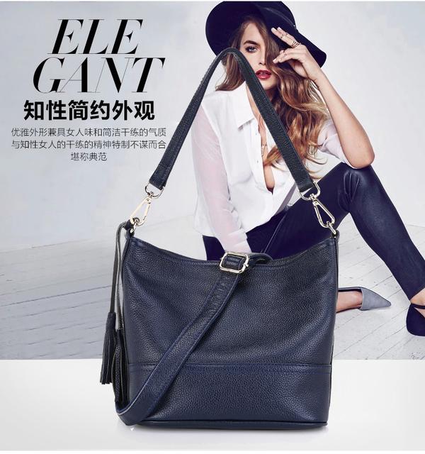 Hot Sell Brand Genuine Leather Women's Messenger bags women handbag Travel Casual Bag Ladies Shoulder Cross Body Purse Satchel