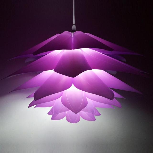 50CM Creative DIY Chandelier Lotus PP Pendant Ceiling Room Decoration Puzzle Lights Modern Lamp For Home Decoration