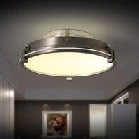 Горячие Nordic простой LED Потолочные светильники Современные компактные гладить Стекло потолочный светильник светильники для дома Освещение