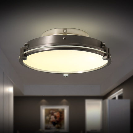 Hot Nordic Simple LED Ceiling Lights Modern Consice Iron Glass Ceiling Lamp Fixtures For ...