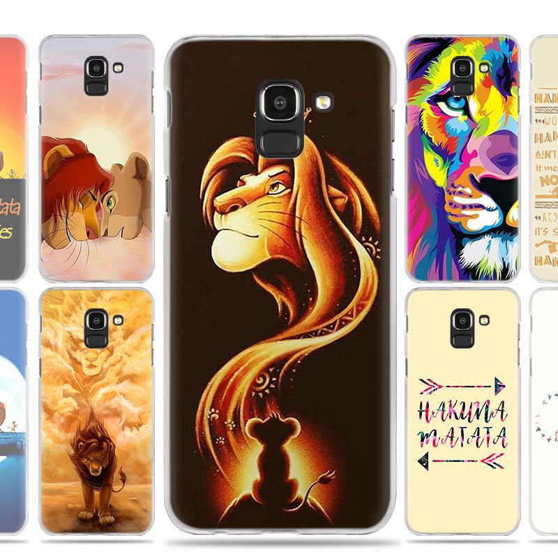 Жесткий Пластик чехол для Samsung Galaxy J2 J3 J4 J5 J6 J7 J8 2016 2017 2018 Prime Plus Акуна Матата Король Лев