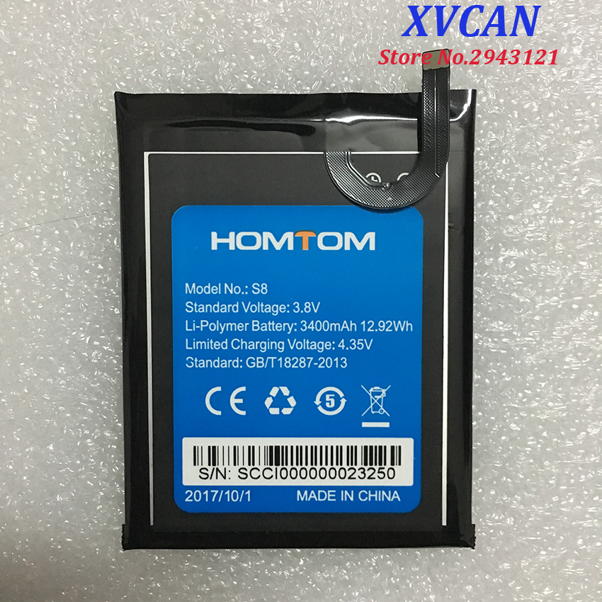 100% Original HOMTOM S8 Battery Replacement 5.7inch 3400mAh Backup Batteries Replacement For HOMTOM S8 Smart Phone