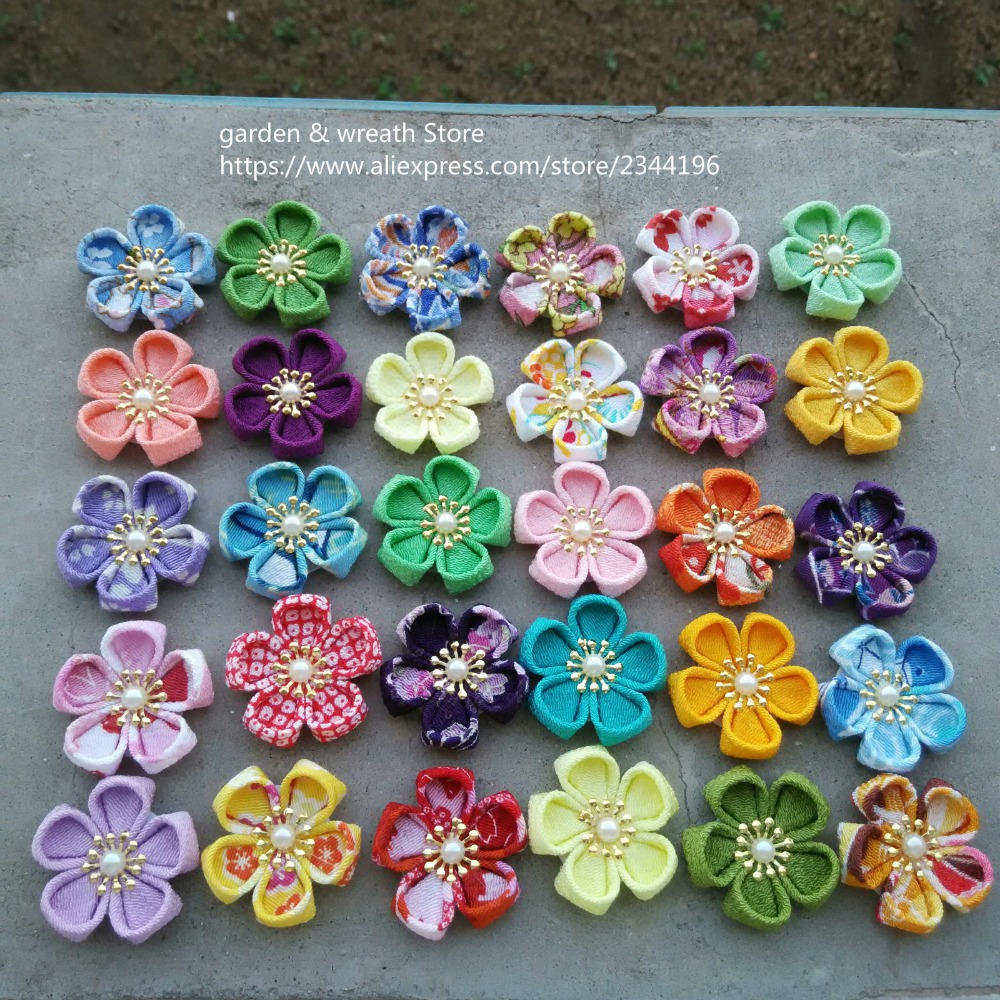 handmade kanzashi flowers diy craft supplies to make lapel