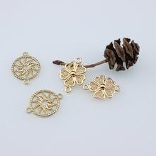 10Pcs Korean Statement Earrings alloy bow circle earrings for Women bracelet girls DIY jewelry pendant accessories material