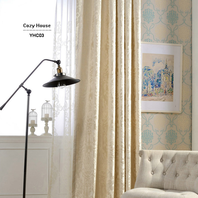 Aliexpress Buy European Damask Curtains For Living Room Luxury Jacquard Blind Drapes Window Panel Fabric Curtain Bedroom Shading 70 Custom From