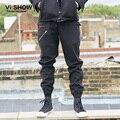 VIISHOW Roupas Calças Dos Homens em linha reta calças Dos Homens Hip Hop carta Impressão Calças Da Carga Dos Homens Roupas Masculinas Casuais KC33463