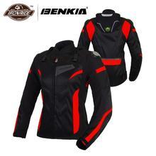 BENKIA chaquetas para motocicleta para mujer, chaqueta de Motocross, equipo de protección, carreras, transpirable, a prueba de viento, para primavera y verano