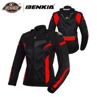 Benkia motocicleta jaquetas mulheres motocross jaqueta de proteção engrenagem corrida respirável à prova vento moto jaqueta para a primavera verão|motocross jacket|motorcycle jacket women|moto jacket -