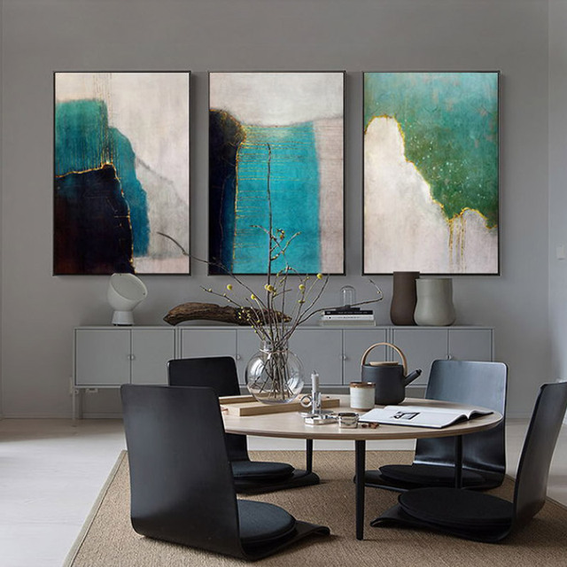 Abstract Minimalist Color World Canvas Painting Wall Art For Living Room Cuadros Decoracion Dormitorio Fantasy Poster And Print