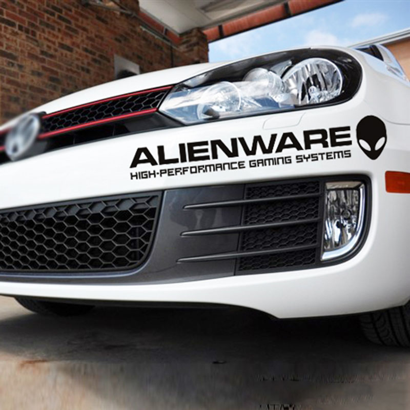 Стайлинга автомобилей ноутбук Alienware внеземной отражающей автомобиля наклейку для двери автомобиля Гольф Авео Форд Фокус 2 3 Мазда 3 Фольксваген поло Киа К2