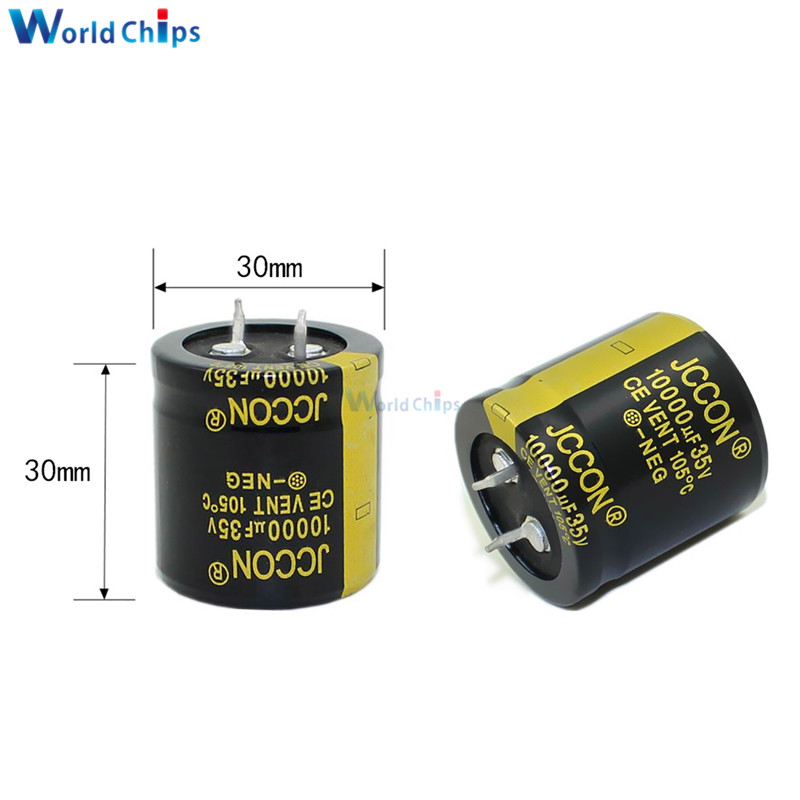 Aluminum Electrolytic Capacitor 35V 10000uF 30X30mm 30*30mm Through Hole Electrolytic Capacitor High Frequency Low Impedance