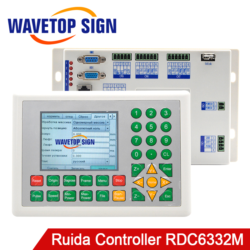 Ruida RD 1set RDC6332M Co2 Laser DSP Controller for Laser Engraving and Cutting Machine co2 laser metal cutting use co2 laser head set co2 laser metal parts co2 laser path use for laser cutting and engraving machine