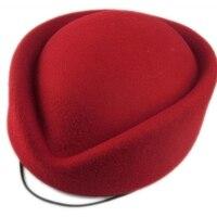 צמר נשים כובע Fascinator הפילבוקס Feamale רגיל כובע כללי התנהגות כובעי מגבעות לבד שווי נשים כומתת כובע דיילת כובע גברת רשמית A040