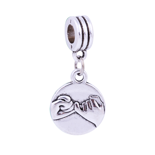 Silver Handle Agreement Charms Pendants Beads European Diy Beads Fit