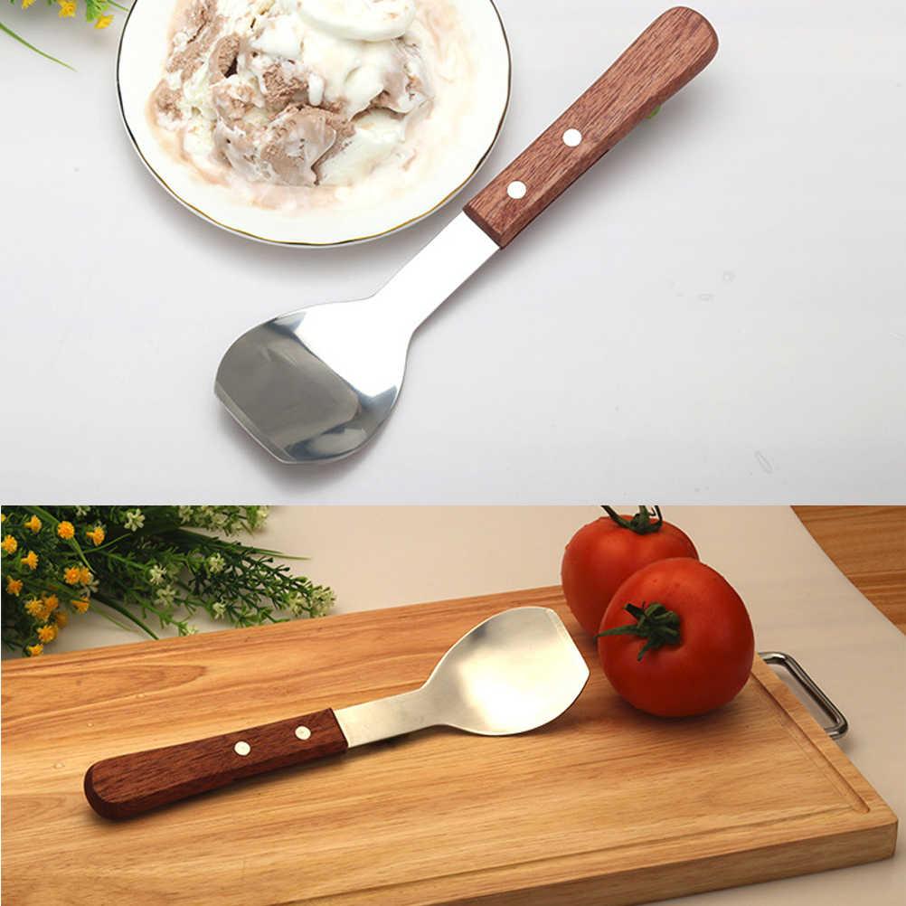Pelle à crème glacée en acier inoxydable anti-dérapant longue poignée pelle à crème glacée fournitures de cuisine pour un usage quotidien