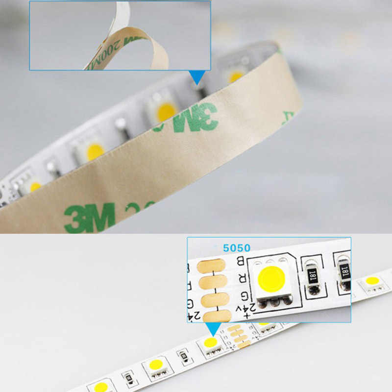 5 м светодиодное освещение полосы 24 V с переключателем 2A адаптер 24 В светодиодные ленты SMD5050 водонепроницаемый светодиодный полосы света 60 светодиодный s/m диод теплый белый IL