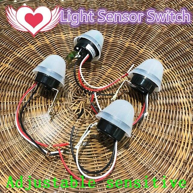 Newest Adjustable Photoelectric Sensor Light Switch DC12V/220V Light  Control Sensor Automatic Photocell Switch For