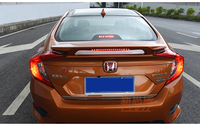 Spoilers For Honda Civic 2016 2017 Spoiler High Quality Rear Wing Strip LED Lamps Spoilers Trunk