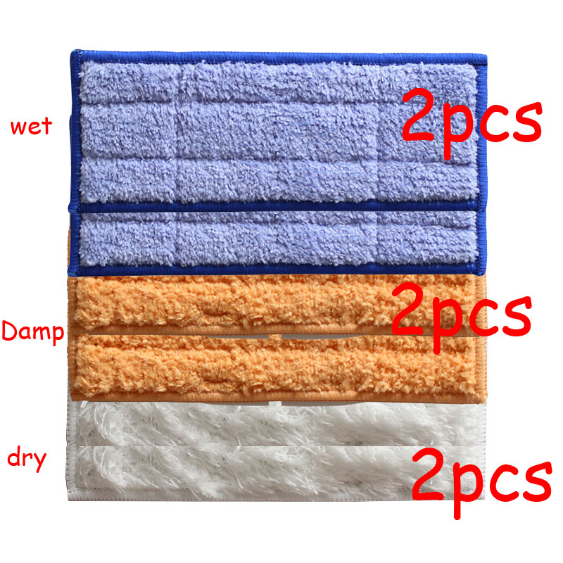 YiJiA 6pcs robot cleaner brushes spare parts 2pcs Wet Pad Mop +2pcsDamp Pad Mop + 2pcs Dry Pad Mop for iRobot Braava Jet 240 241