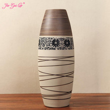 Jia-gui luo  Vase home decoration Nordic hand-painted floor vase living room