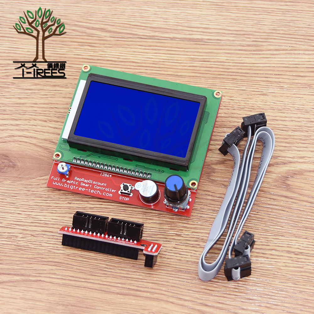 12864 LCD Ramps Smart Parts RAMPS 1.4 Controller Control Panel graphic LCD 12864 Display Monitor Motherboard Blue Screen Module 12864 lcd ramps parts ramps 1 4 controller control panel lcd 12864 display monitor motherboard blue screen module for anet a6